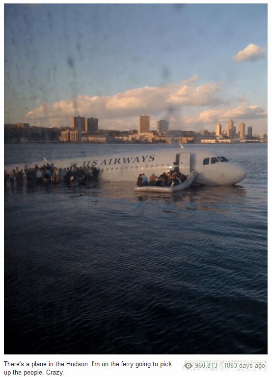 Landung eines Flugzeuges im Hudson-River 2009