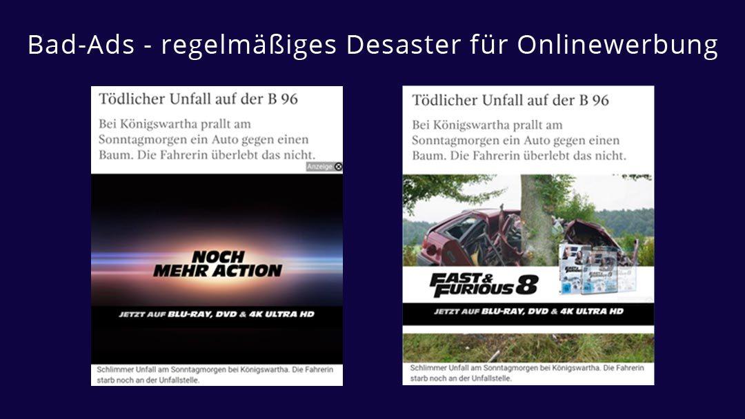 Bad Ads: Wenn Onlinewerbung zum Desaster wird