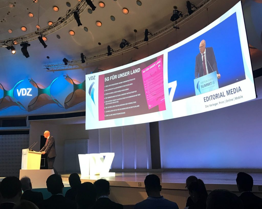 Impulsvortrag zu 5G auf dem VDZ Publisher Summit