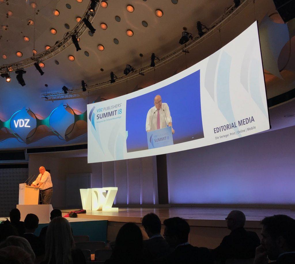 Altmeier auf dem VDZ Publisher Summit