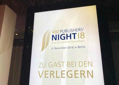 VDZ würdigt Persönlichkeiten in der Publishers' Night