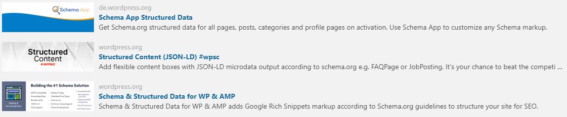Strukturierte Daten - WordPress Plugins