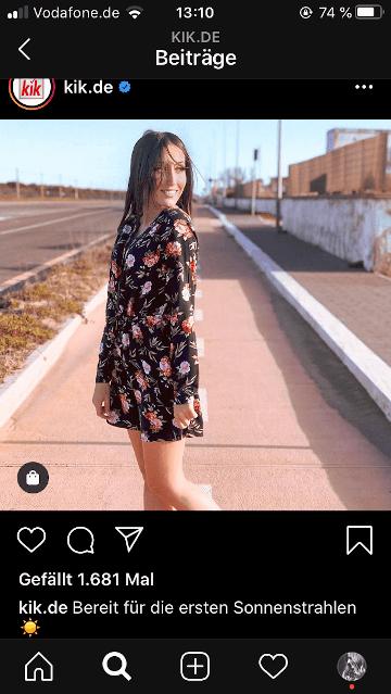 Shoppable Content bei Kik: Beitragsbild Instagram