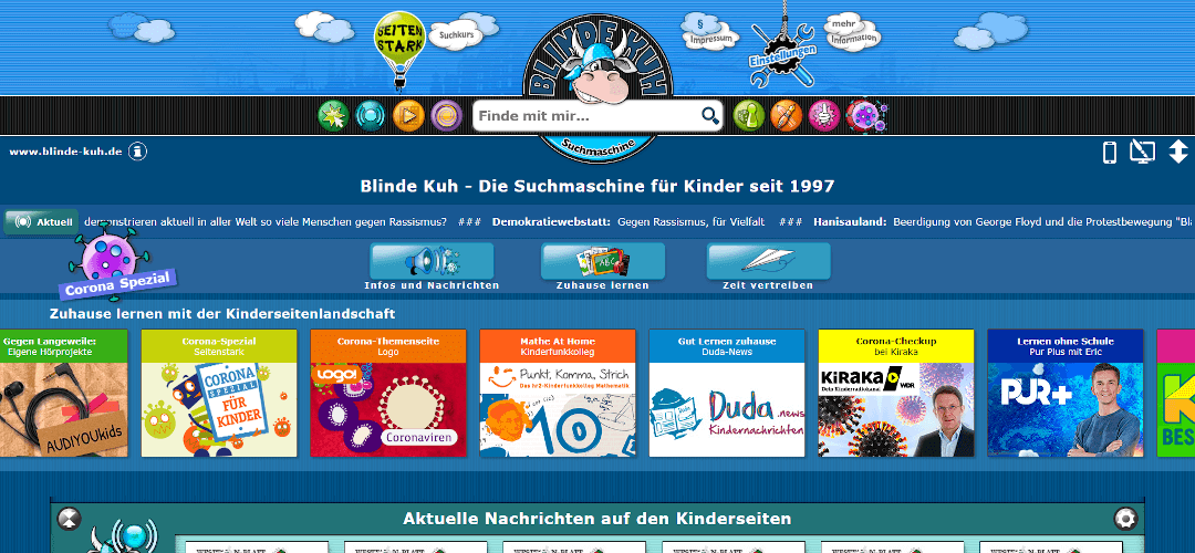 Alternative Suchmaschinen: Blinde Kuh