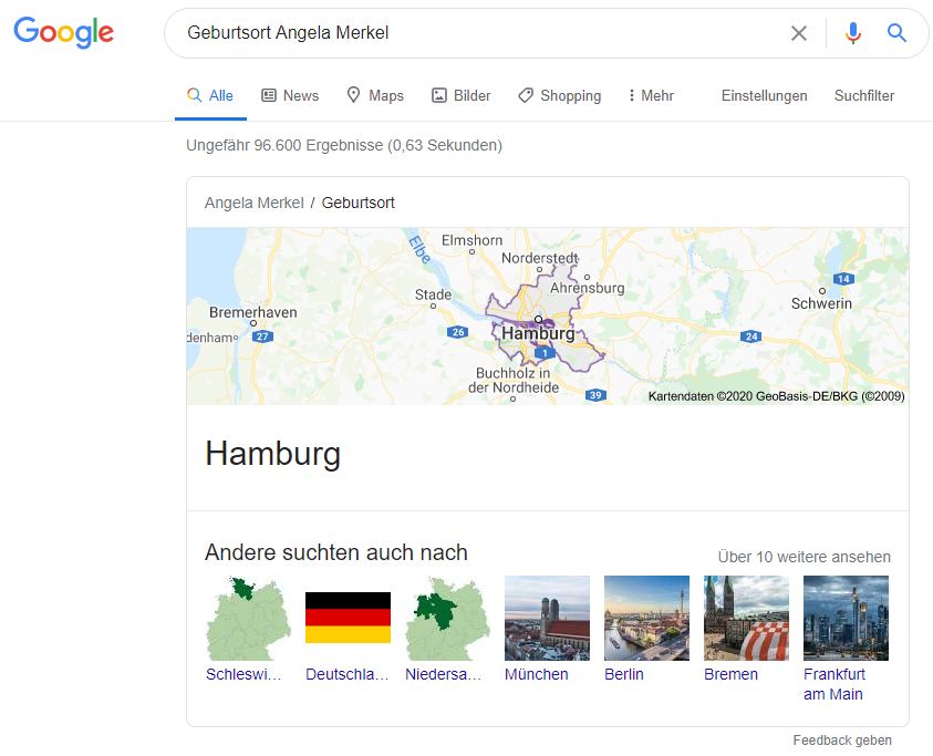Google Knowledge Graph: Knowledge Card
